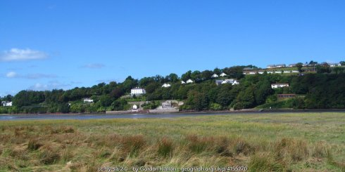 Looking across to Laugharne