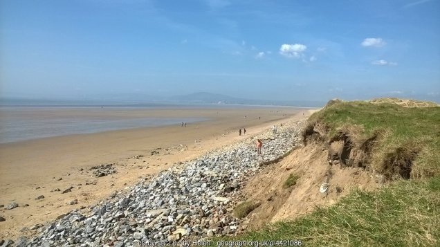 Traeth Aberafan Looking over the sand dunes at the end of Aberavon beach across Swansea Bay.