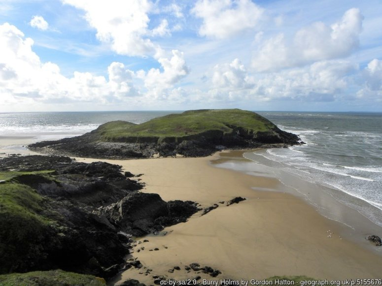 Burry Holms - The tidal island at the NW corner of the Gower peninsula.
