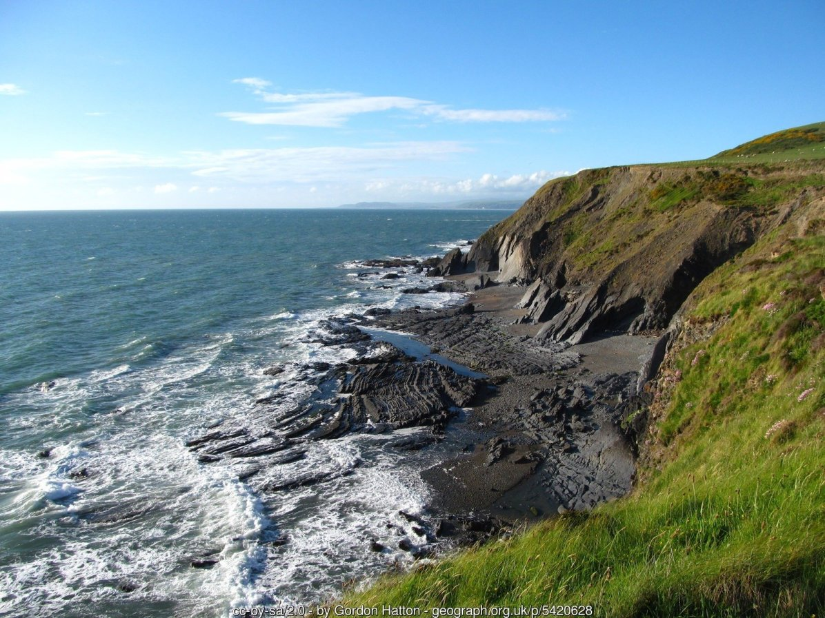 Coastal view north of Clarach Bay
