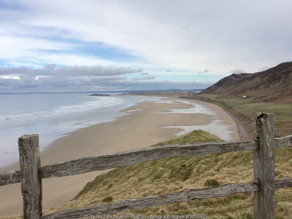 Walk the Wales Coast Path from Rhosilli to Oxwich Bay