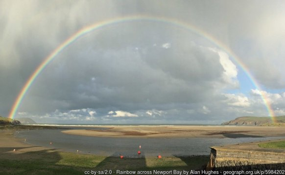 Rainbow across Newport Bay