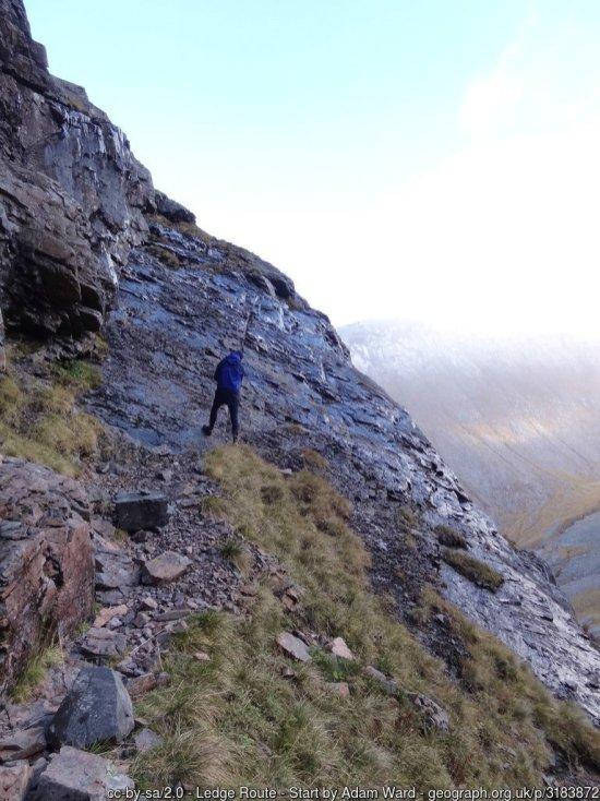 The Ledge Route up Ben Nevis