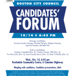 Boston City Council Candidates Forum Poster