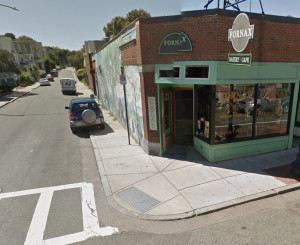 Corner of Corinth and Cohasset, Proposed Location for Bike Corral (Image Courtesy Google Maps)