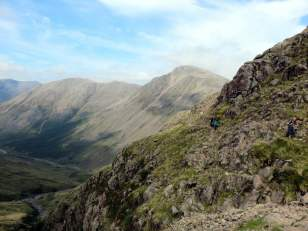 Scafell Pike Corridor Route from Seathwaite via Taylorgill Force