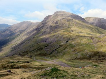 Scafell Pike Corridor Route from Seathwaite via Greenhow Knott