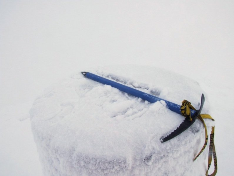 An ice axe in these conditions is essential - as is the ability to know how and when to use it.