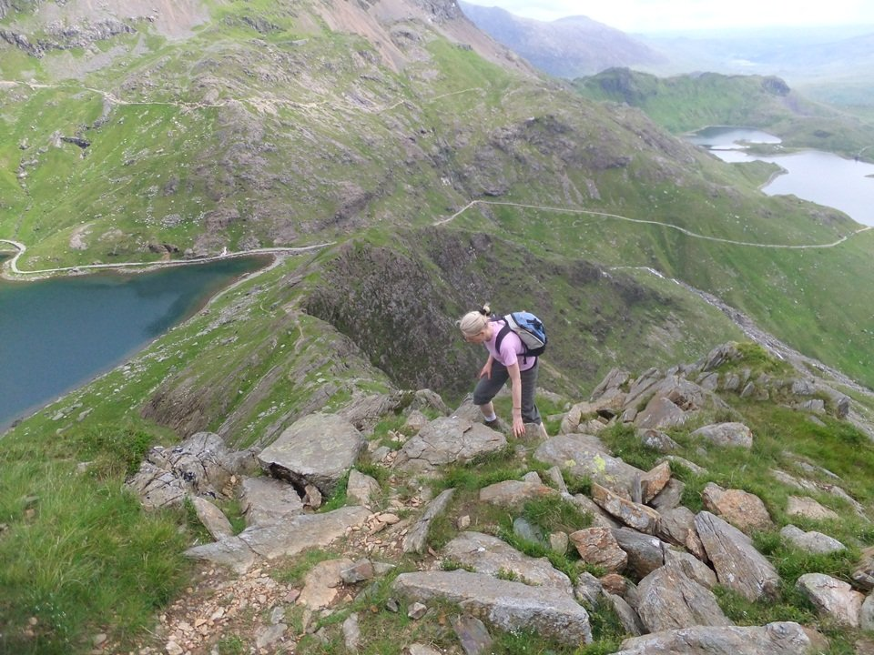Scramble up Y Gribin Ridge and Y Lliwedd on Snowdon