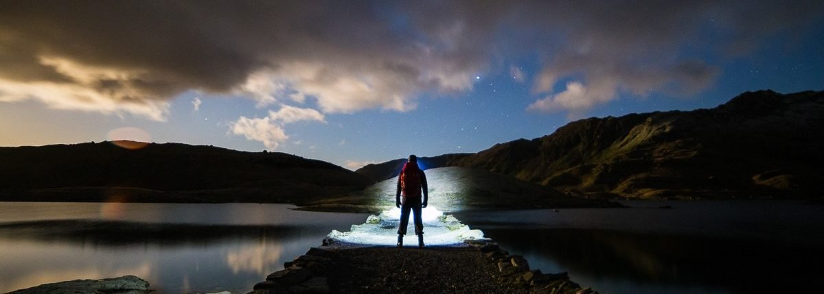 Walk up Snowdon - Miners Track at night