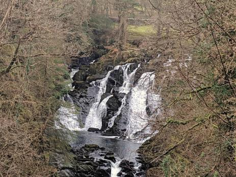 Easy Walks in Snowdonia - Rhaeadr Ewynnol - Swallow Falls from Betws y Coed