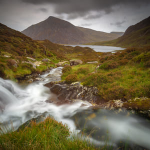Challenging hiking in the Ogwen Valley, North Wales