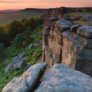 Stanage Edge Rock Climbing