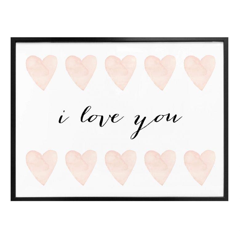 poster confetti cream i love you
