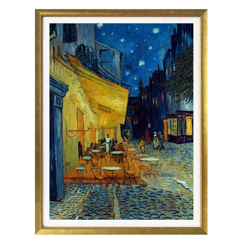 poster van gogh cafe terrasse am abend