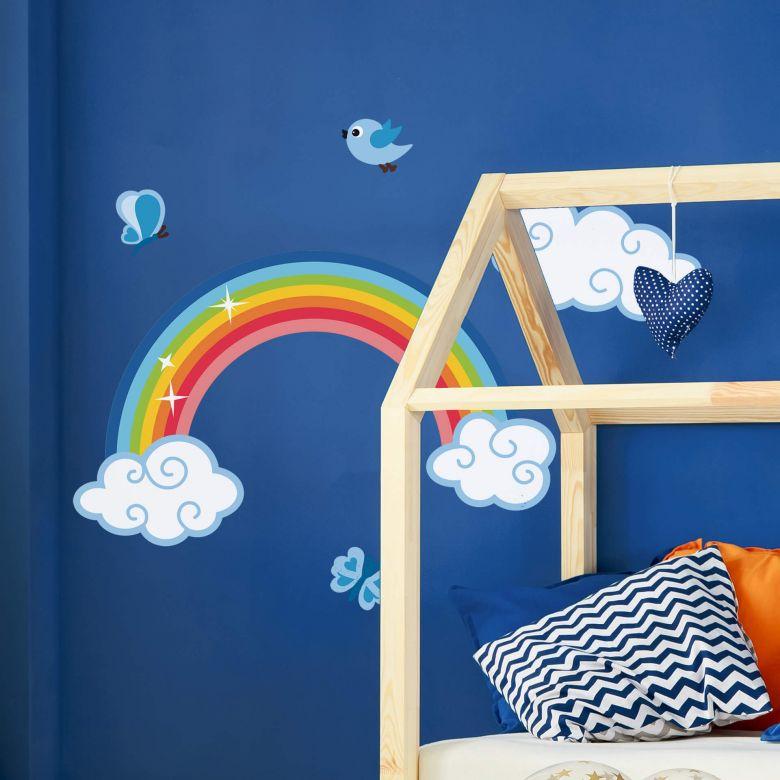 sticker mural arc en ciel pour garcons