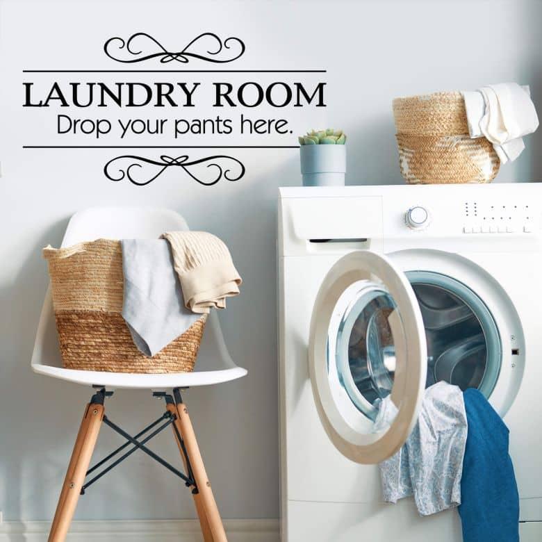 sticker mural laundry room