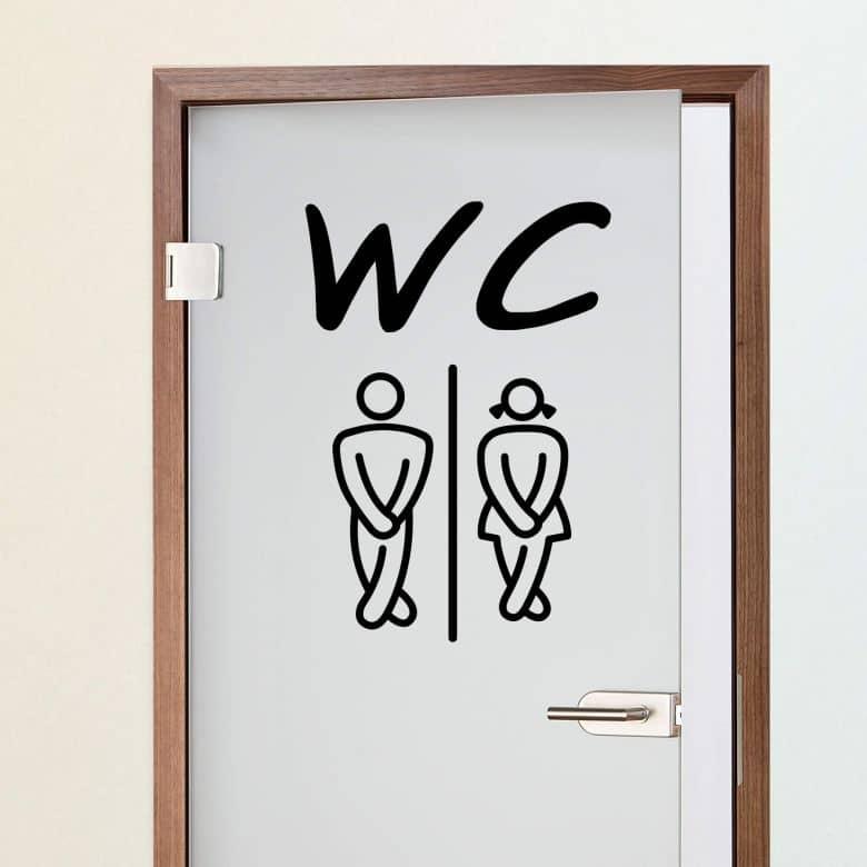 sticker mural wc