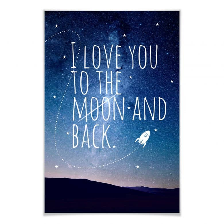 poster i love you to the moon and back