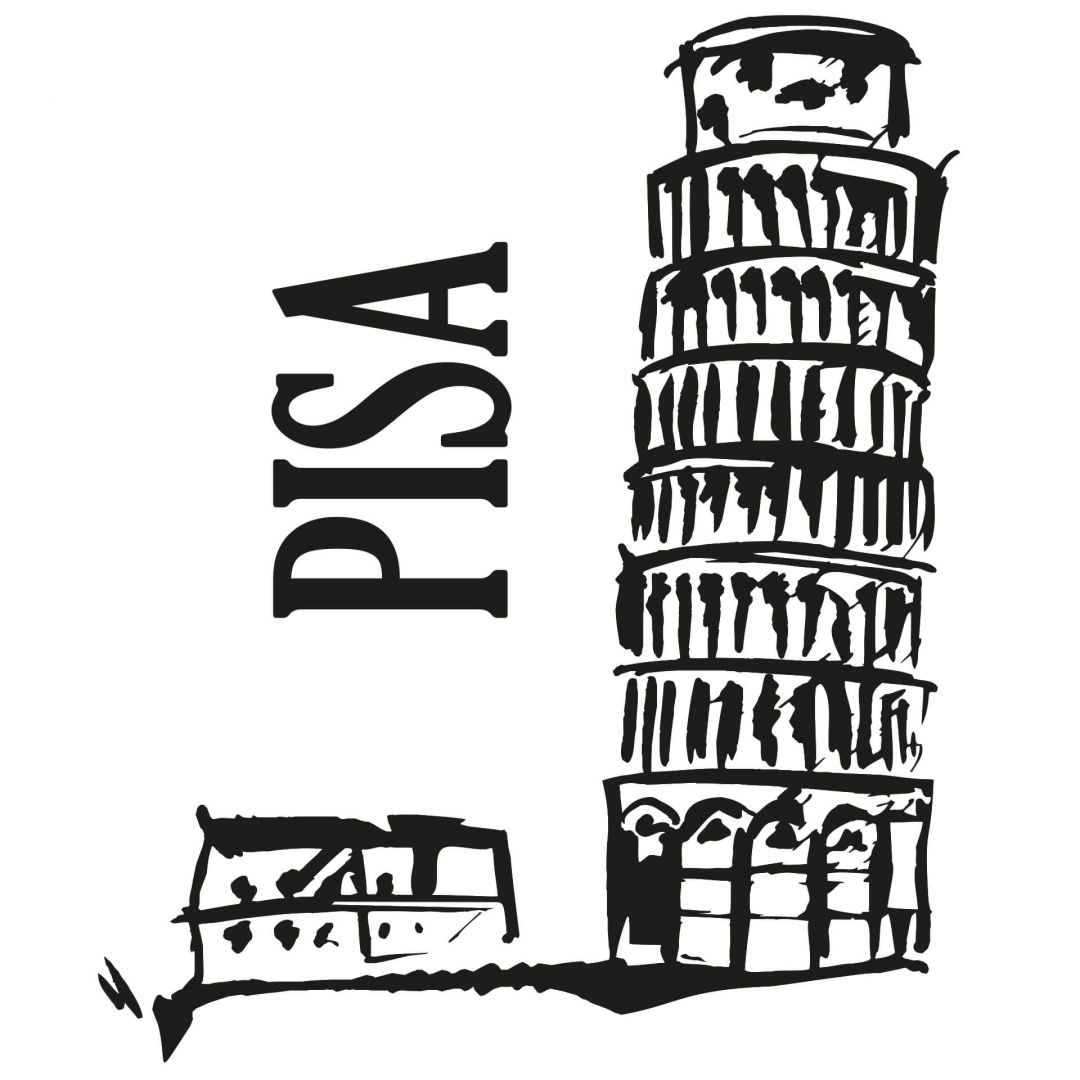 Leaning Tower Of Pisa Wall Sticker