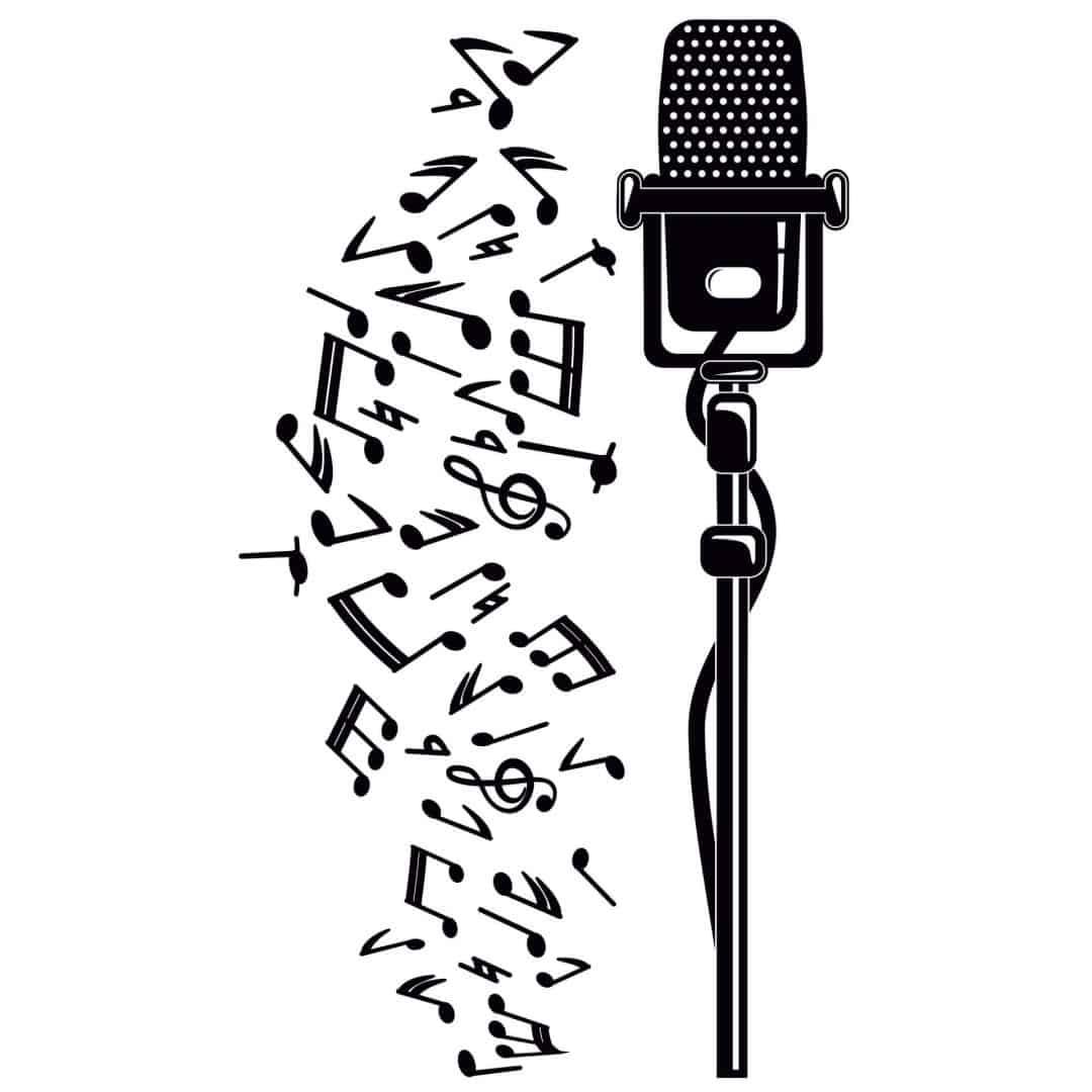 Microphone Wall Sticker