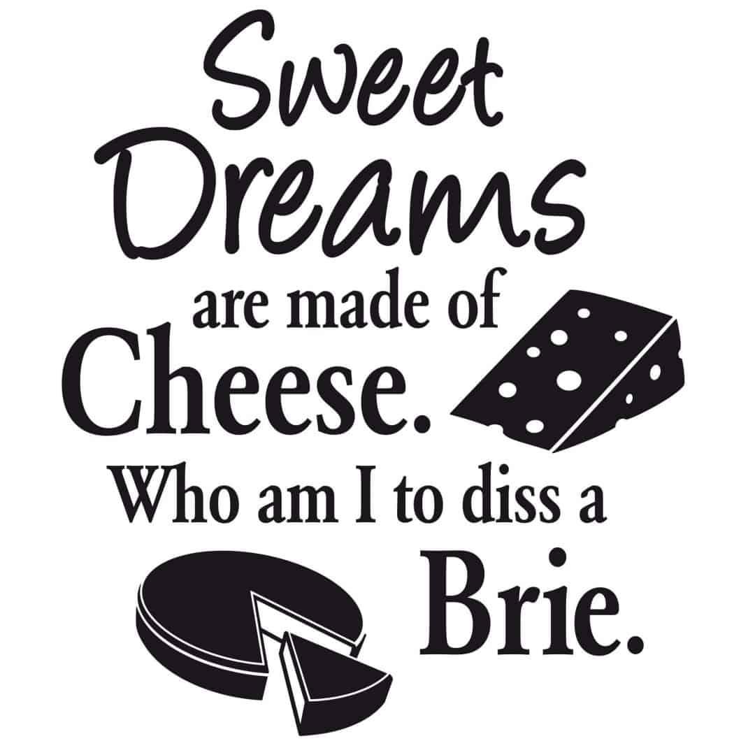 Cheese Dreams Wall Sticker 40x47 Cm