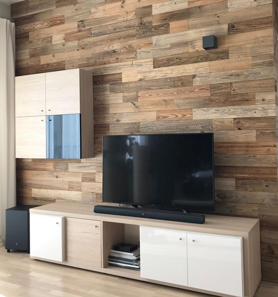 parement bois massif nature wooden wall