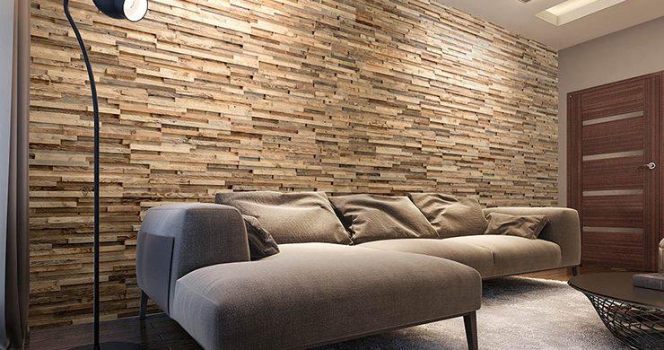 idee deco creer un mur en bois pour