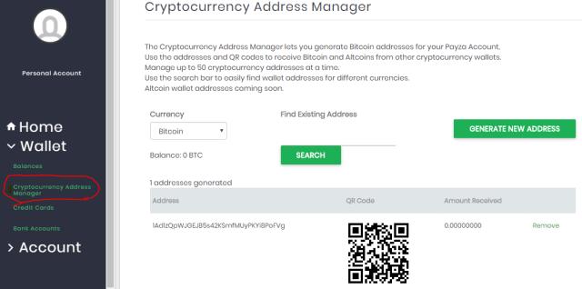 what is blockchain address