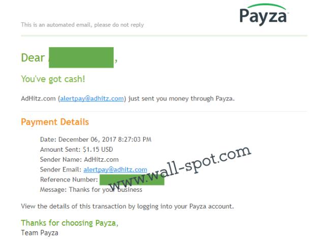 adhitz payment payza mail