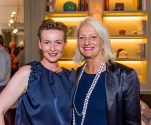 Sarah and Carey at the Christie's South Kensington Farewell Party, The Kensington Hotel, London, 19 July 2017