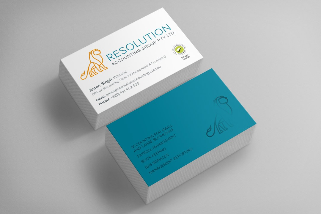 Resolution Accounting Group Business Cards - Business Startup
