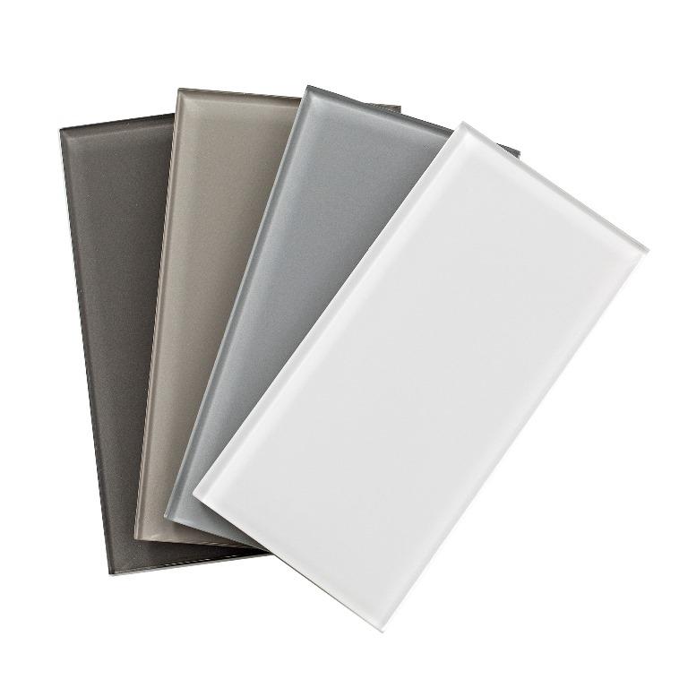 free shipping glass 3x6 peel stick backsplash tile collection