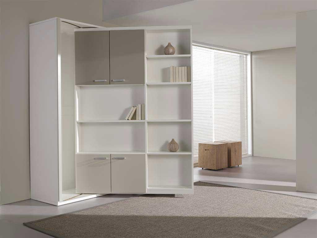 Diy Revolving Bookcase Murphy Bed
