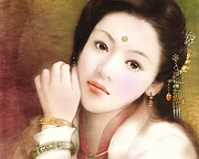 The Ancient Chinese Beauty Paintings by Der Jen30 pics