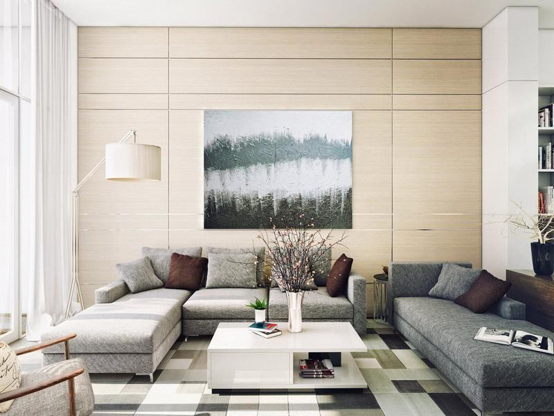 Contemporary Living Room Wall Art Decoration Pictures Part 36
