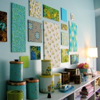 Fabric wall decoration for kitchen