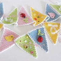 Crochet Bunting Garland wall decor