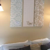 Fabric wall decoration