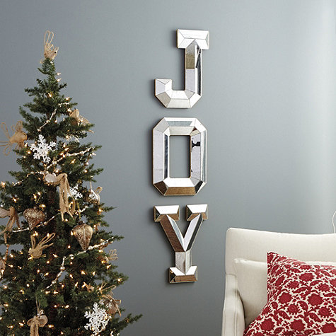 Mirrored Joy Letters Wall Decoration Pictures Wall