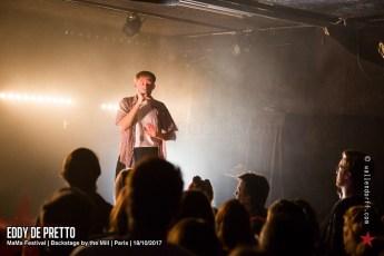 Eddy de Pretto @ MaMa Festival, Backstage by the Mill, Paris, 18/10/2017