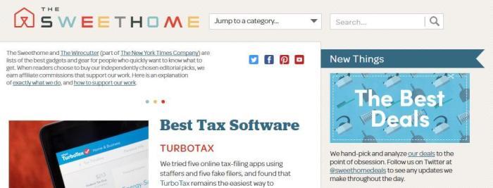 TheSweetHome -Amazon Affiliate Website Example