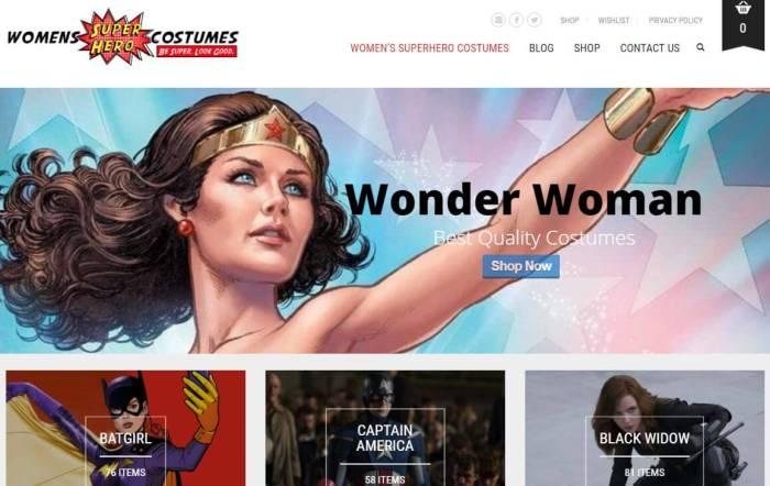 WomensSuperheroCostumes -Amazon Affiliate Website Example