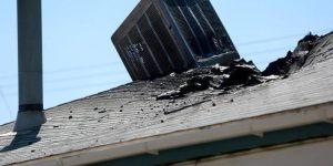 Damaged Swamp Cooler Drywall