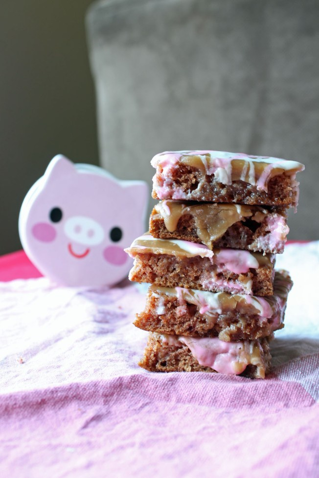 Healthy Apple Spice Squares with Caramel Penuche Icing 1--022613