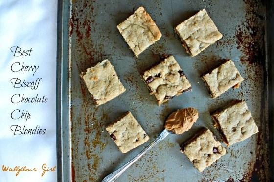 Best Chewy Biscoff Chocolate Chip Blondies 19--091713