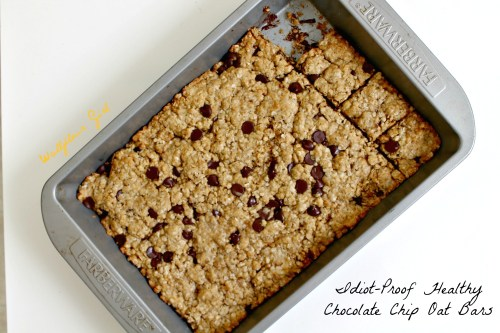 Idiot-Proof Healthy Chocolate Chip Oat Bars 2--012214