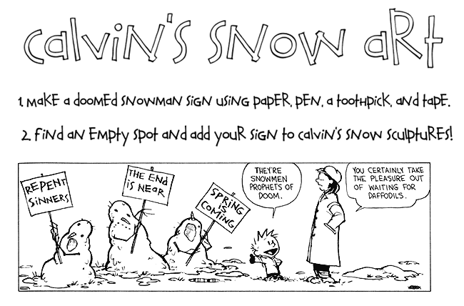 Calvin's Snow Art