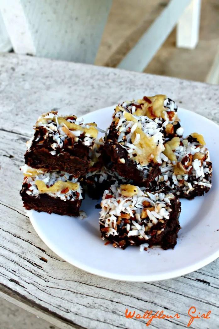 German Chocolate Fudgy Brownies 14--083114