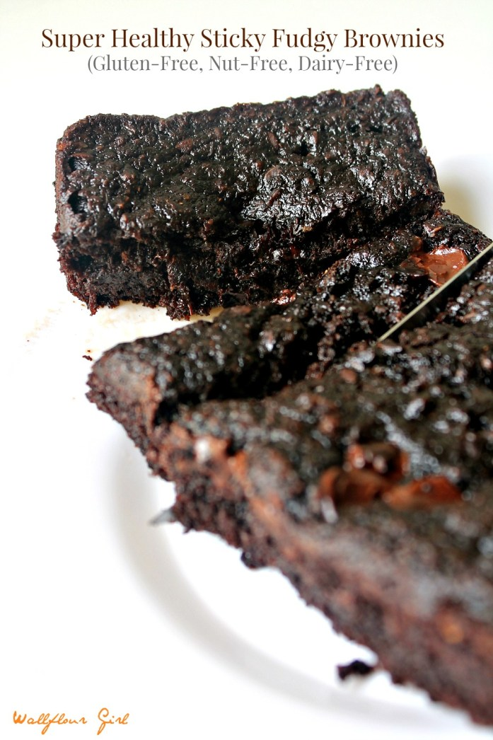 Healthy Sticky Fudgy Brownies 2--080214 (GF, Dairy-Free)